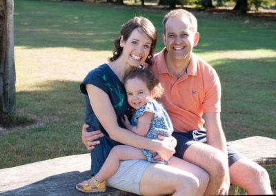 family of 3 in farnham park