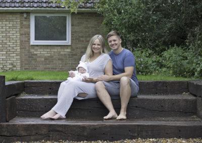 Tongham doorstep portraits with baby