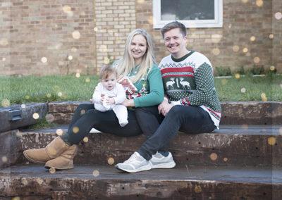 christmas jumper doorstep portrait in farnham