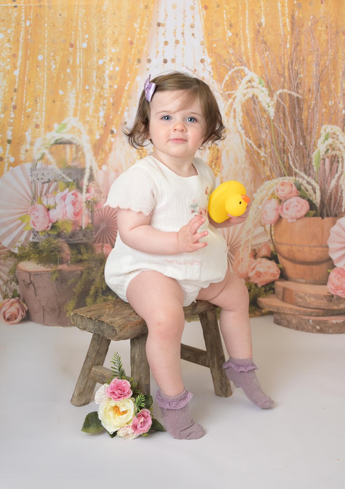 first birthday girl in photoshoot Farnham